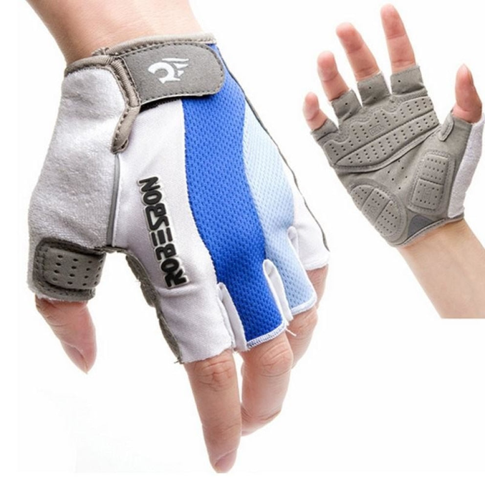 Half Finger Breathable Gloves Anti Slip Gel Pad