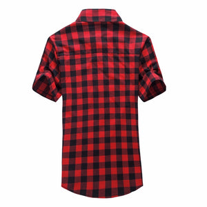 Plaid Shirt Short Sleeves Shirt For Men
