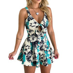 Printed Floral Jumpsuit Sleeveless Party Play-suit