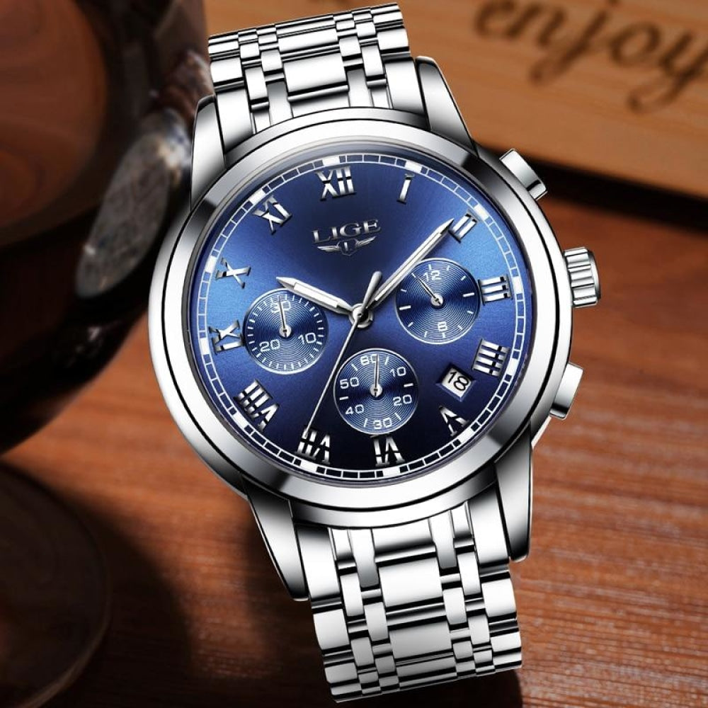 Stainless Steel Watch Quartz Wristwatch Mens Watches