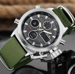 Sports Watches with Nylon Strap Digital Analog