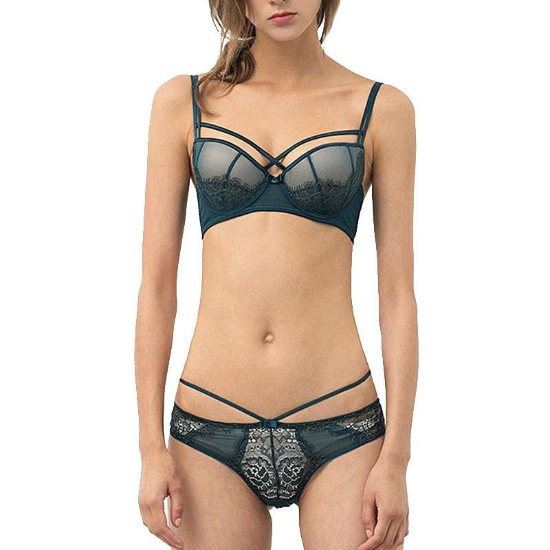Sexy Underwear Push up Bra Set Cotton