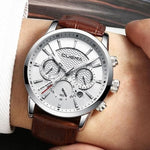 Watches Genuine Leather 30M Waterproof Wristwatch