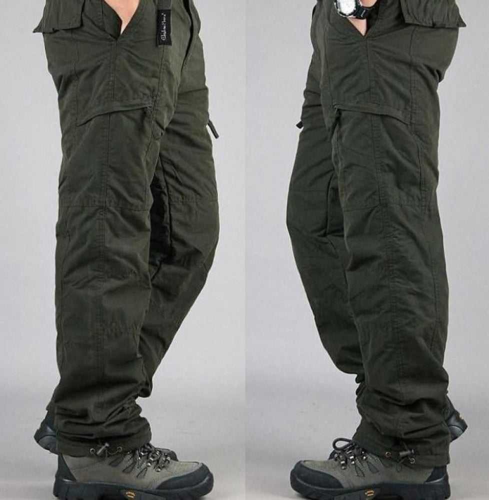 Winter Cargo Pants Thicken Fleece Pants for Men