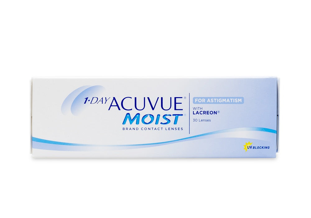 Acuvue 1-Day Moist For Astigmatism (+)  - Daily - 30PK