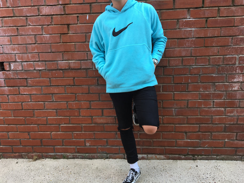 Nike Hooded Fleece - Turquoise - Large