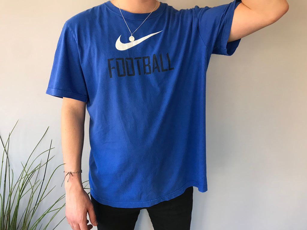 Nike Football T-Shirt - Blue - XL