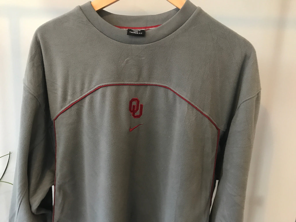Nike Oklahoma Therma-Fit Fleece Sweatshirt - Grey - XL