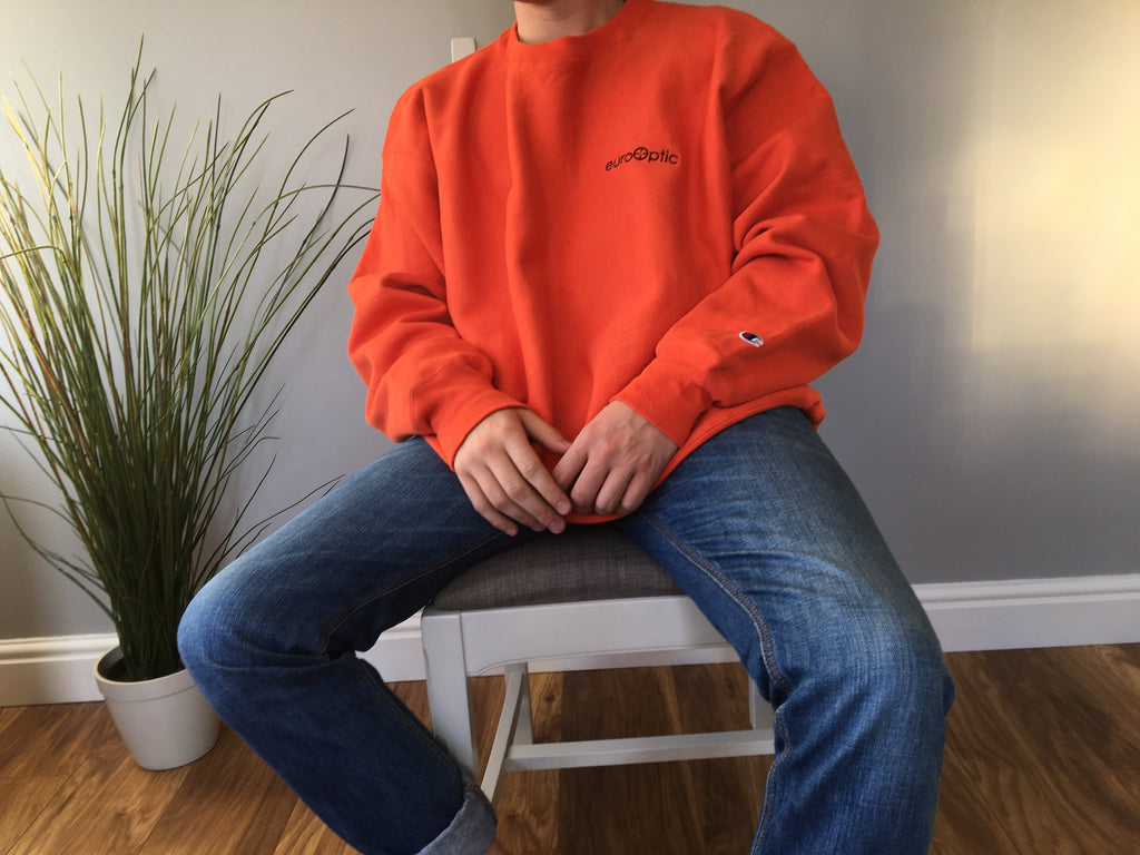 Champion Premium Reverse Weave Sweatshirt - Orange - XL