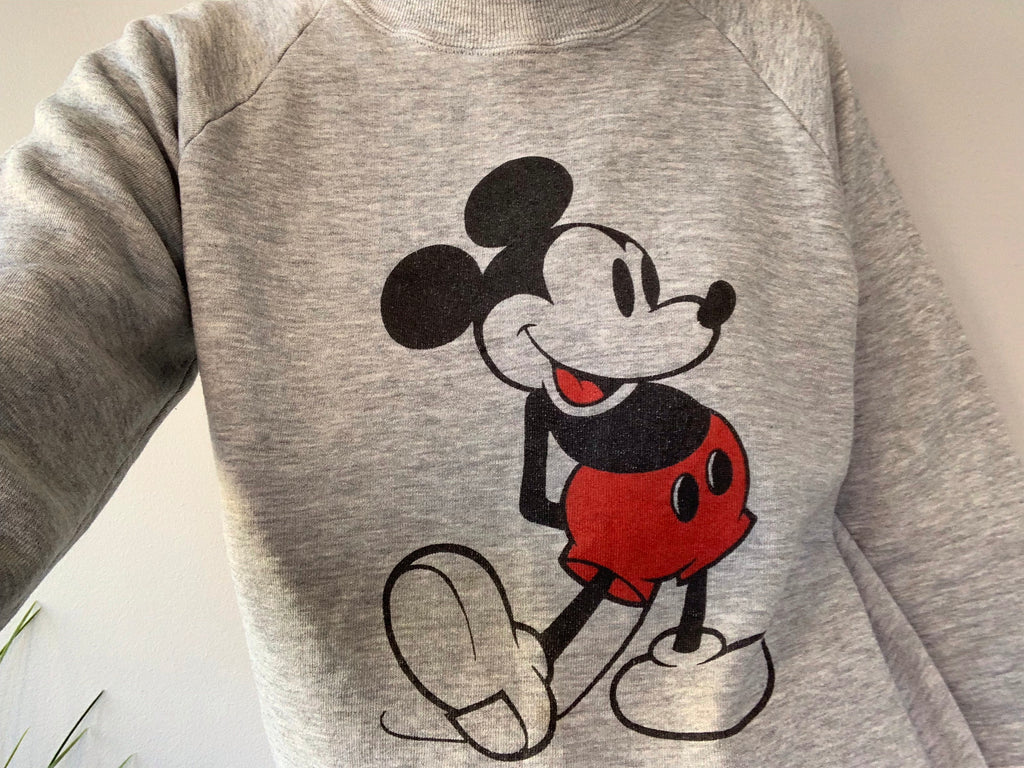 Mick Mouse Disney Crewneck Sweatshirt - Grey - Medium