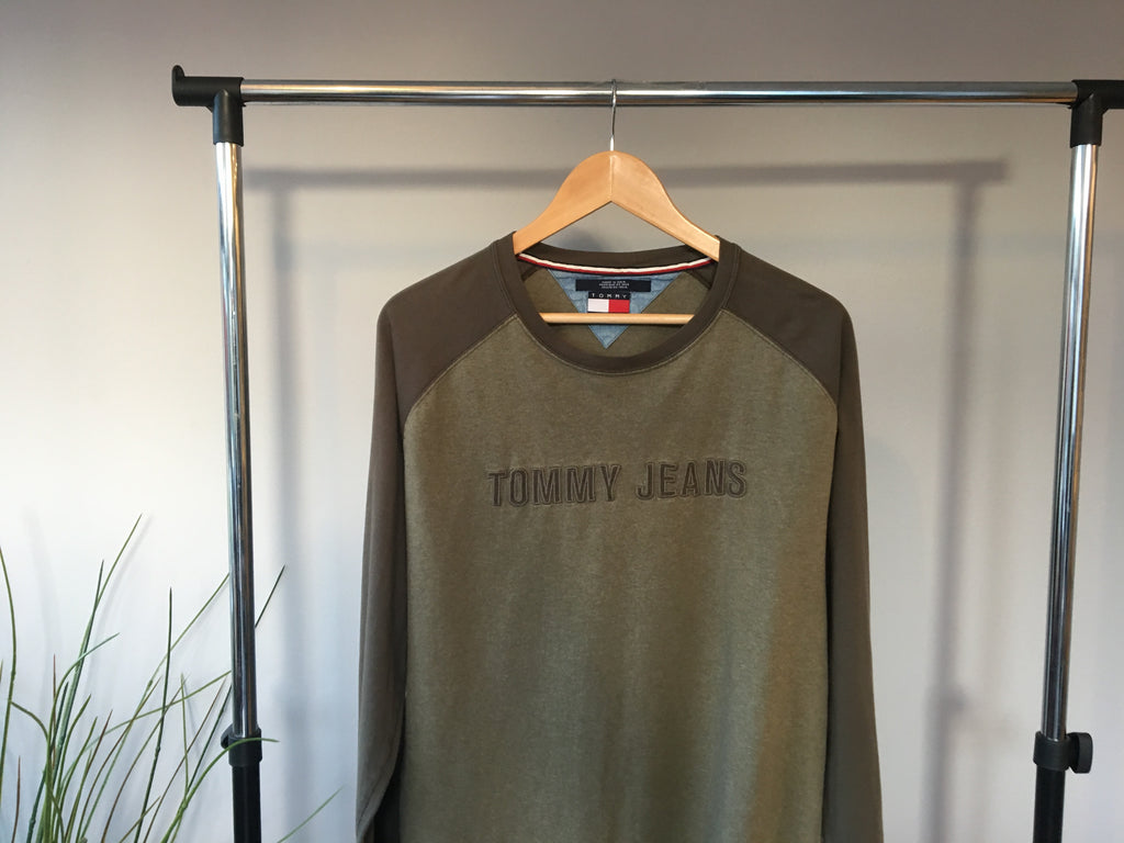 Tommy Hilfiger Long Sleeve T-Shirt - Khaki - Large