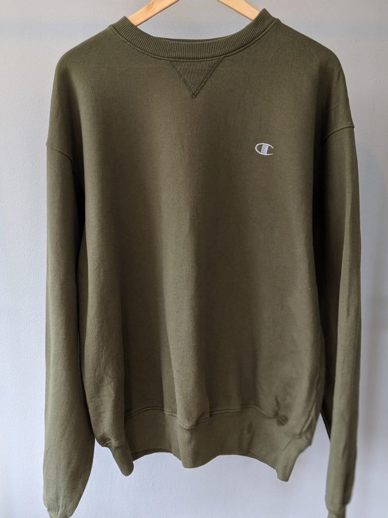 Champion Crewneck Sweatshirt - Khaki - Large