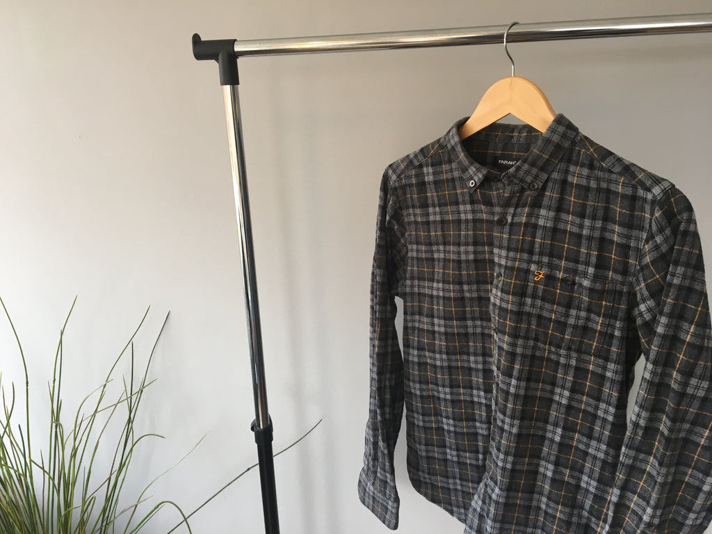 Vintage Farah Slim Fit Flannel Shit - Medium