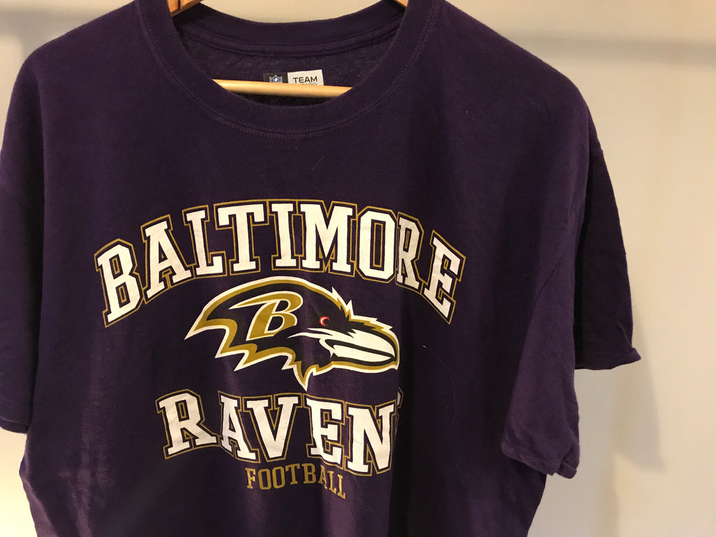 Baltimore Ravens Football Printed T-Shirt - Purple - Large