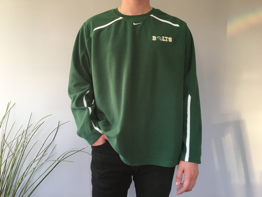 Nike Therma-Fit Bolts Fleece Sweatshirt - Green - XL - Vintage Society