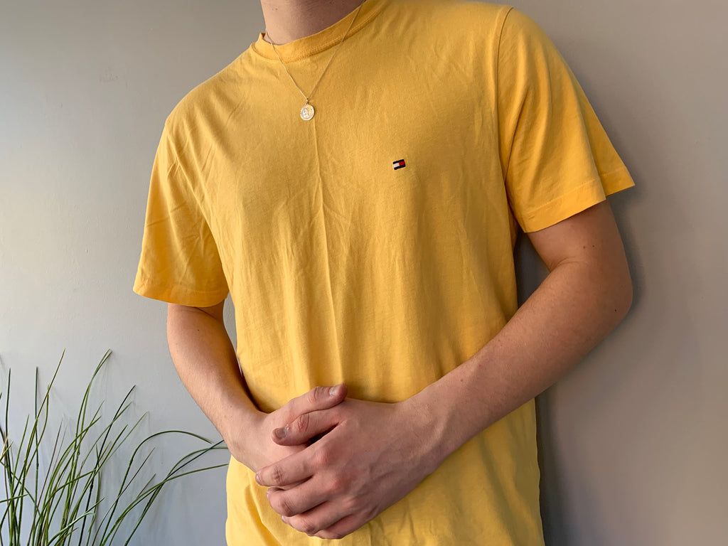 Tommy Hilfiger Yellow T-Shirt - Medium