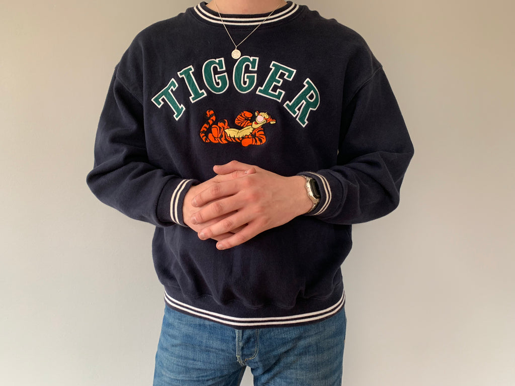 Original Disney Store Tigger Sweatshirt - Navy - Medium