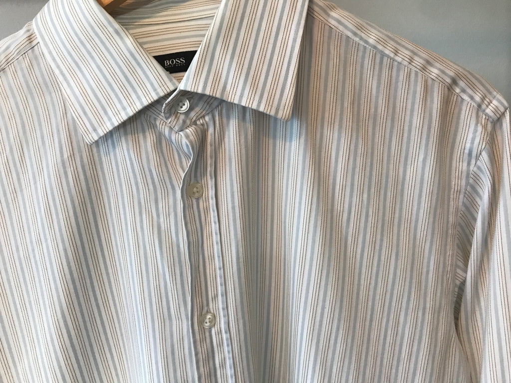 Hugo Boss Fine Striped Shirt - Large