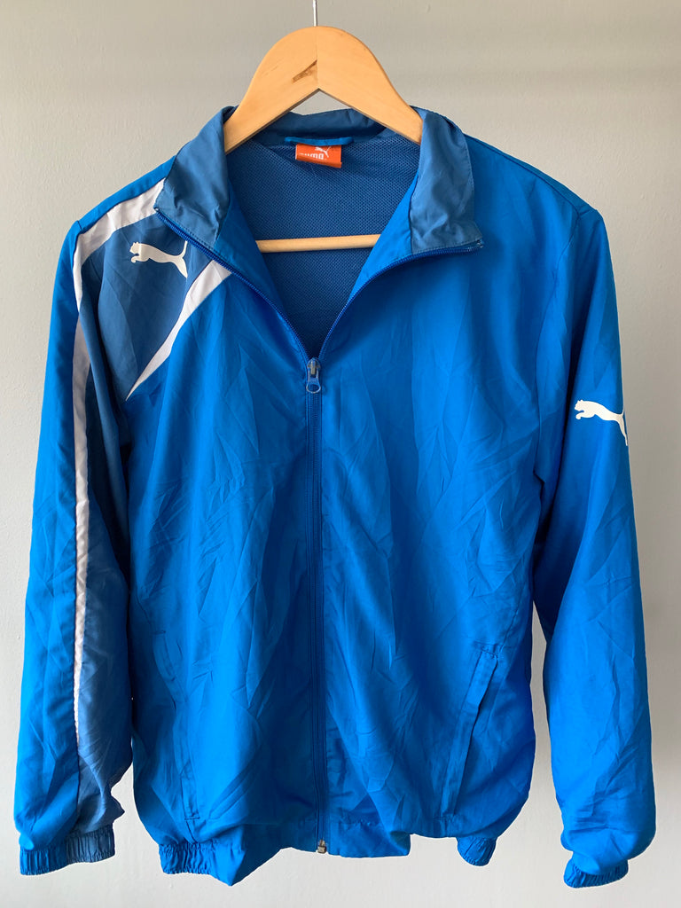 Puma Lightweight Jacket - Blue - Small - Vintage Society