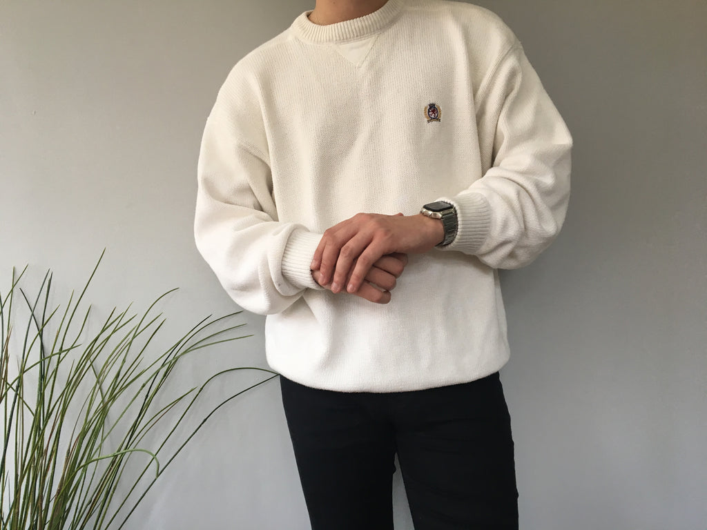 Tommy Hilfiger Crewneck Sweatshirt - White - XL