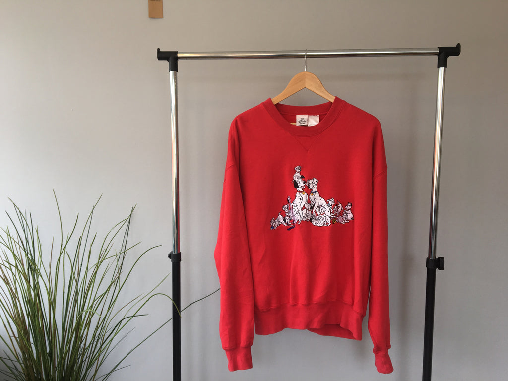 Original Disney Store 101 Dalmatians Sweatshirt - Red - Large