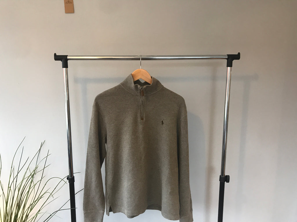 Ralph Lauren 1/4 Zip Sweatshirt - Grey - Medium