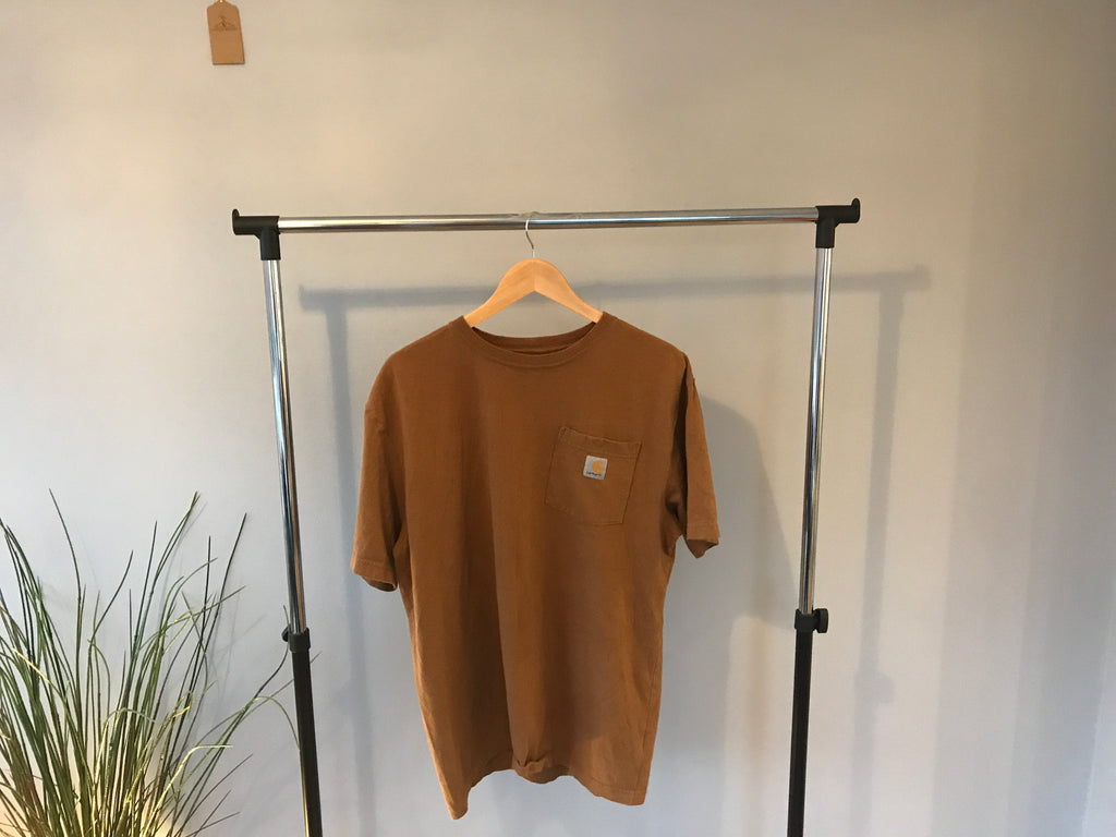 Vintage Carharrt T-Shirt - Brown - Large