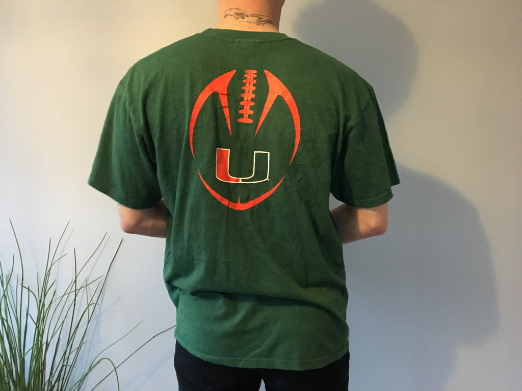 Nike American Football T-Shirt - Green - Large - Vintage Society