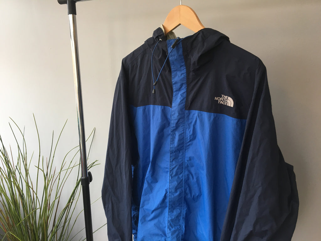 North Face Blue Colour-way Coat - Medium