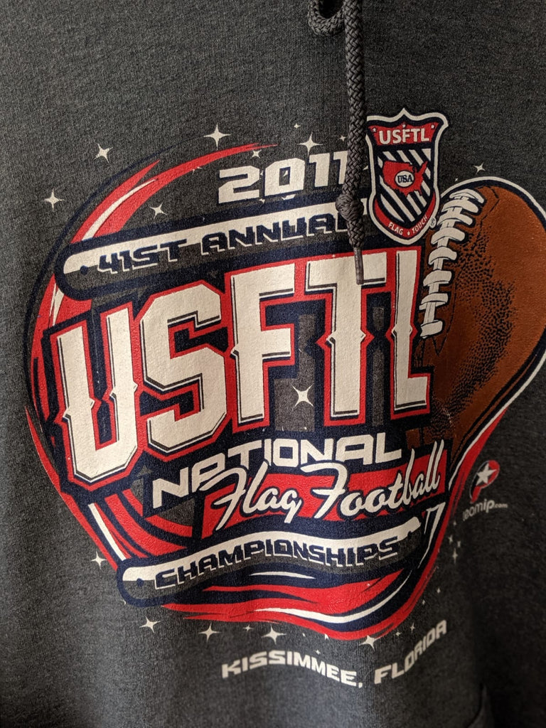 Unbranded USFTL National Flag Football Championships (2011) Hoodie - Grey - XL