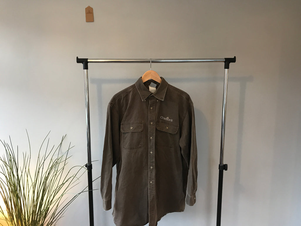 Vintage Carharrt Shirt - Brown - XL