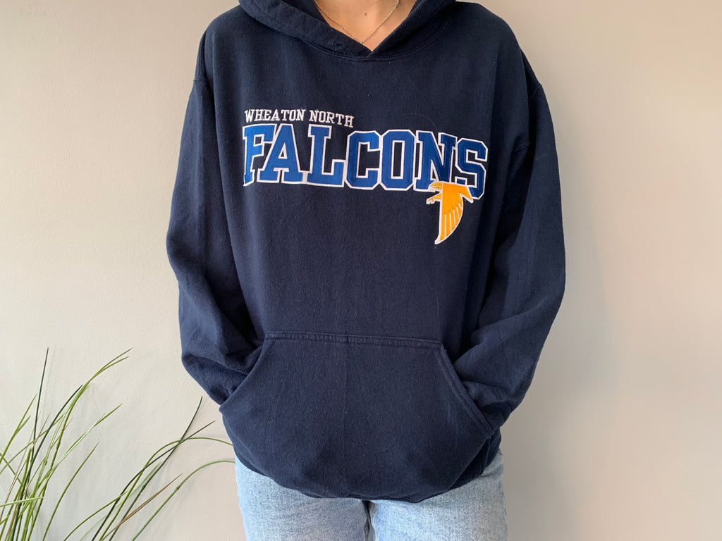 Wheaton North Falcons Hoodie - Navy - Medium