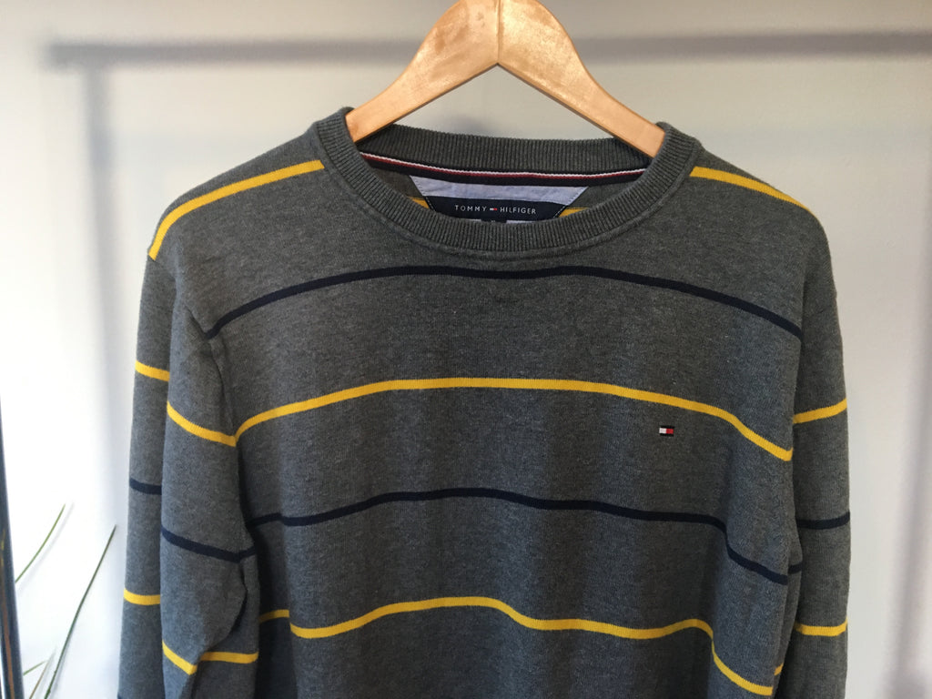 Tommy Hilfiger Striped Sweatshirt - Grey - XL