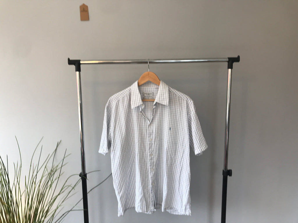 Vintage YSL Short Sleeved Shirt - White - Large