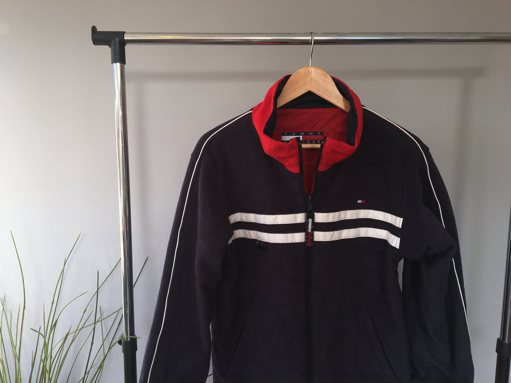 Tommy Hilfiger Blue Full Zipper Fleece - Small