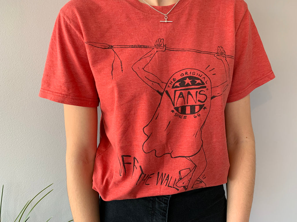 Vans OFF THE WALL T-Shirt - Red - Medium