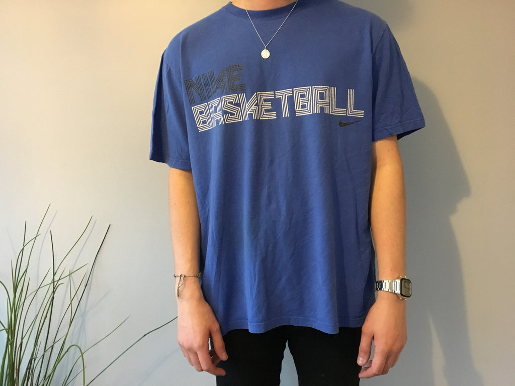 Nike Basketball Printed T-Shirt - Blue - XL