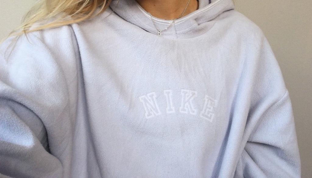 Nike Hooded Fleece - Lilac - Large - Vintage Society
