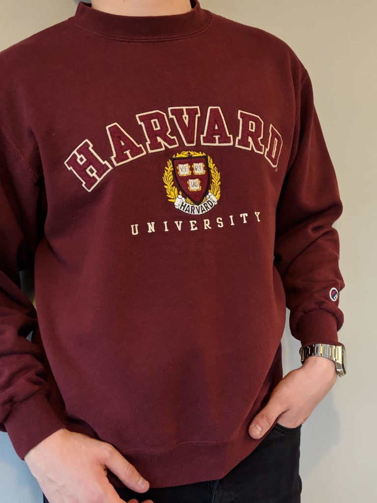 Champion Harvard University Sweatshirt - Burgundy - Medium
