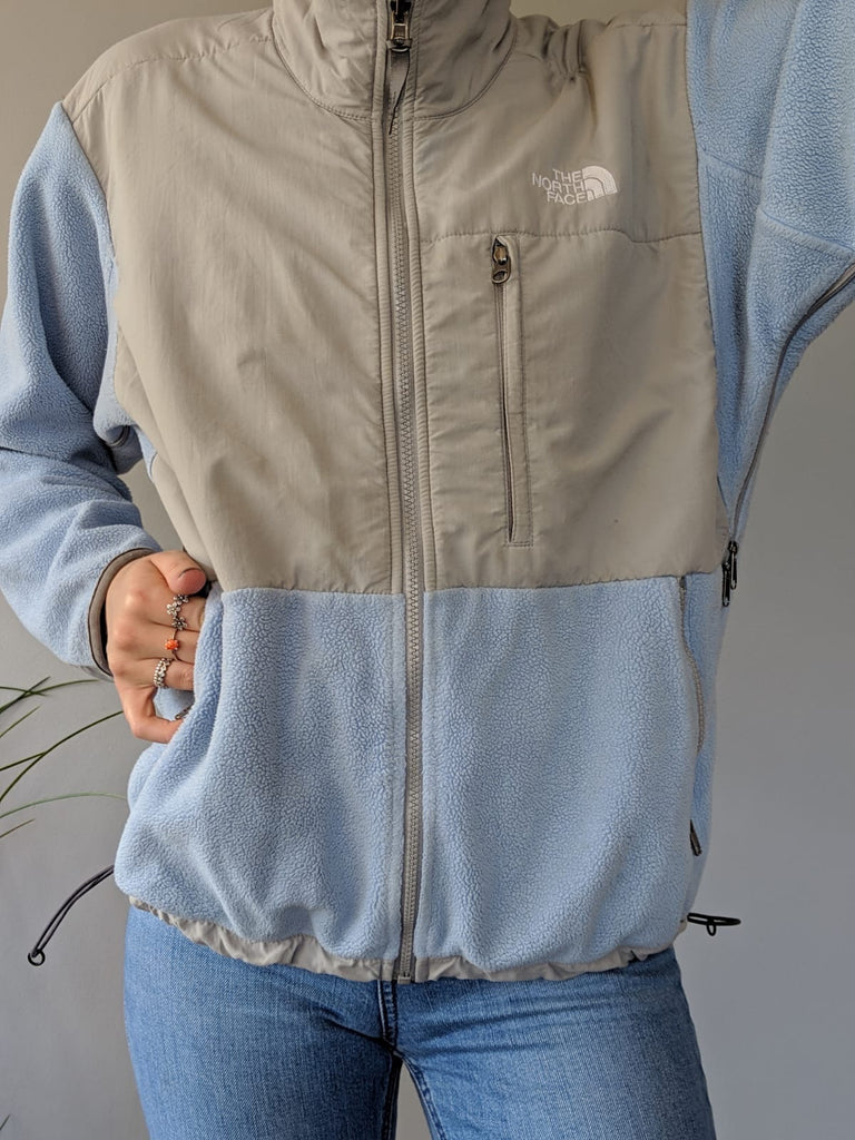 The North Face Blue & Grey Fleece - Medium