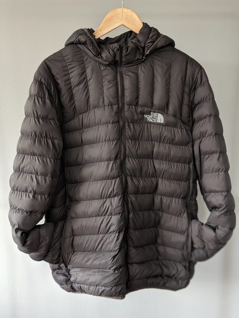 The North Face Puffer Coat - Dark Grey - Large