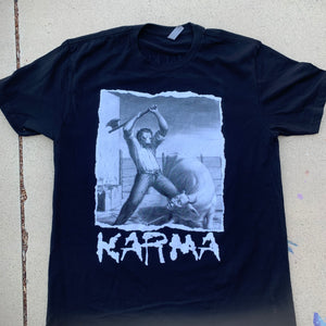 "The Hardcore Herbivore ""karma"" black shirt"
