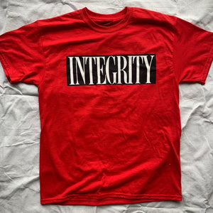 "Integrity ""ghost"" red shirt (second press) /6"