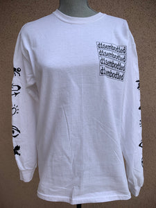 "Disembodied ""if god only knew"" white longsleeve"