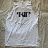 "Integrity ""ghost"" white tank top /9"