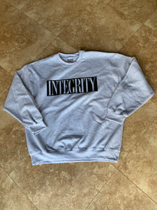 "Integrity ""ghost"" gray crewneck /6"