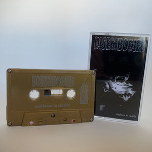 "Disembodied ""existence in suicide"" gold tape /25"