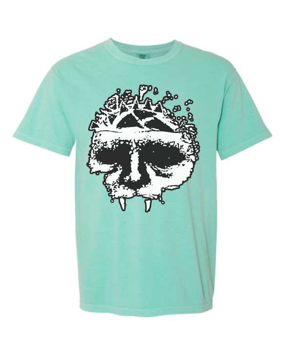 Integrity skull mint shirt