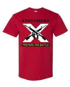 "Statement ""Prepare For Battle"" shirt pre-order"
