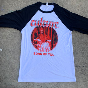 "Culture ""Born Of You"" white and black baseball shirt"